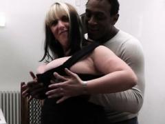 Cheating black fella licks and fucks her fat hole