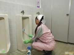Far eastern bathroom attendant is in the mens part1