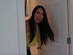 アジア人, 浴室, フェラチオ, チン, 彼女, ハメ撮り, シャワー, フェラする