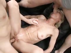 Entirely whorish granny enjoys to take youthful pricks and cum