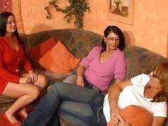 3 horny german moms having fun with a vibrator