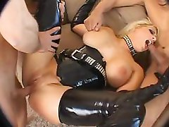Candy Manson In Black Latex Brutally Fucked