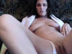 Dilettante Aged Brunette Sexy Lingerie Masturbation