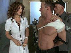 医者, ヨーロピアン, ハードコア, 看護婦, ストッキング, ユニフォーム, スカートのぞき, ヴィンテージ