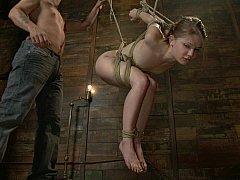 Very flexible Sensi Pearl in bondage