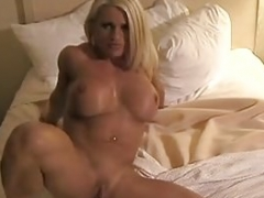 Nude Lady Bodybuilder Melissa Dettwiller and furthermore Her Big Pink pearl
