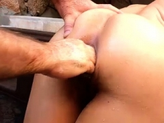 Backdoor fisting sex and additionally stretching amateur latina MILF