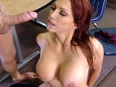 Breasty redhead teacher