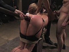 アナル, 緊縛, ボンデージ, 茶髪の, 服従, ハードコア, 公共, 奴隷