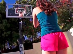 Fit girl is getting some dick in her ass after playing basketball