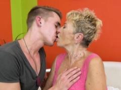 Plump grandma gets railed