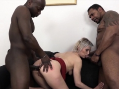 Grown-up Gets Black Purple rods In Pussy And Mouth Likes Rough