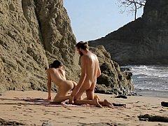 Push it harder, I love beach sand