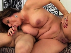 Big beautiful women granny gets a young dick