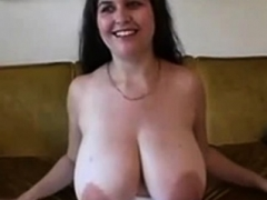 Non-pro brunette bbw with huge breasts fucked
