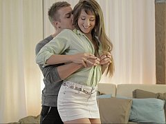 Russian teen Taissia and her man