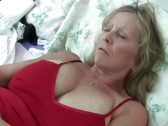 GRANDMA WITH Huge BREASTS RIPS OPEN HER PANTYHOSE