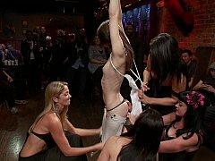 Flexible teen Sensi Pearl gets tied