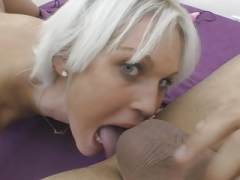 European MILF Cecilia Scott does rimjob and also has large orgasms