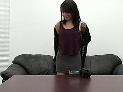 Endearing mistress inspects venue & strips off