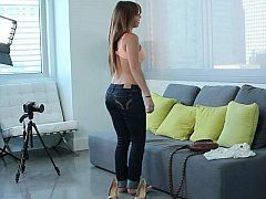 Casting young natural titted shy teen Keisha