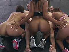 Assparade Orgy at the gym!