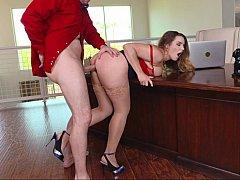 Hot office sex
