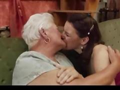 Mature 'N Immature Lesbians Take A Licking