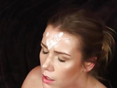 English gal plowed before facial cumshot