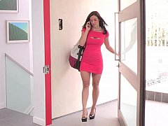 浴室, デカパイ, ドレス, 指いじり, オナニー, 熟年, 淫乱熟女, ストリップ