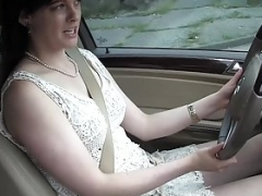 Yanks Sweetie Savannah Sly Masturbates In The Car