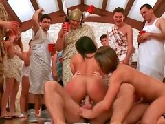 Toga party turns int a porn star orgy