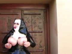 Boobalicious Latex Nun