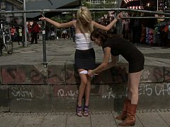 Young Euro girl punished in public