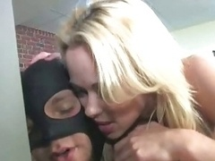 Hot Blonde strapon 1 on 1