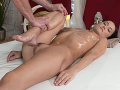Rubbing pussy on a cock