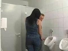 Salle de bains, Brunette brune, Allemand