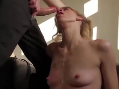 Punished Brit Mom i`d like to fuck swallows warm cum of her sizeable cock master