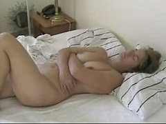Mature Rubs Her Clitoris With Hard Purple pole - With Genital cumshot