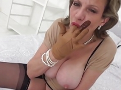 UK Soccer mom Sonia finger fucks her wet cunt