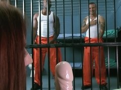 Prison slut fucked by every guy that wants a piece of her