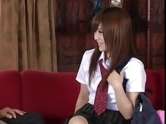 Miku Airi Japanese Hottie With Two Lads