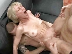 Completely Lustful Granny Loves To Take Young Love tools & Semen !