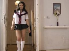 Old UK lesbian queened by schoolgirl