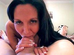Naughty brunette Ava gets drilled like a slut