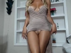 Blond, Masturbatie, Moeder die ik wil neuken, Alleen, Webcamera
