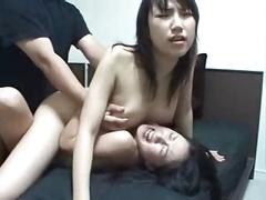 Lucky fella having fun and also creampie 2 Japanese dames