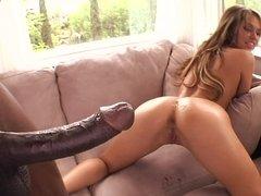 BBC pounds the asshole of slutty chick Aleska Diamond