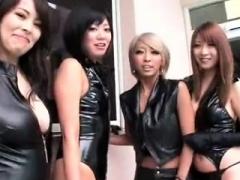 Subtitled CFNM Japanese mixed bathing group handjob