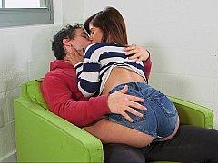 Petit ami, Attrapée, Couple, Fille, Famille, Mère que j'aimerais baiser, Maman, Adolescente